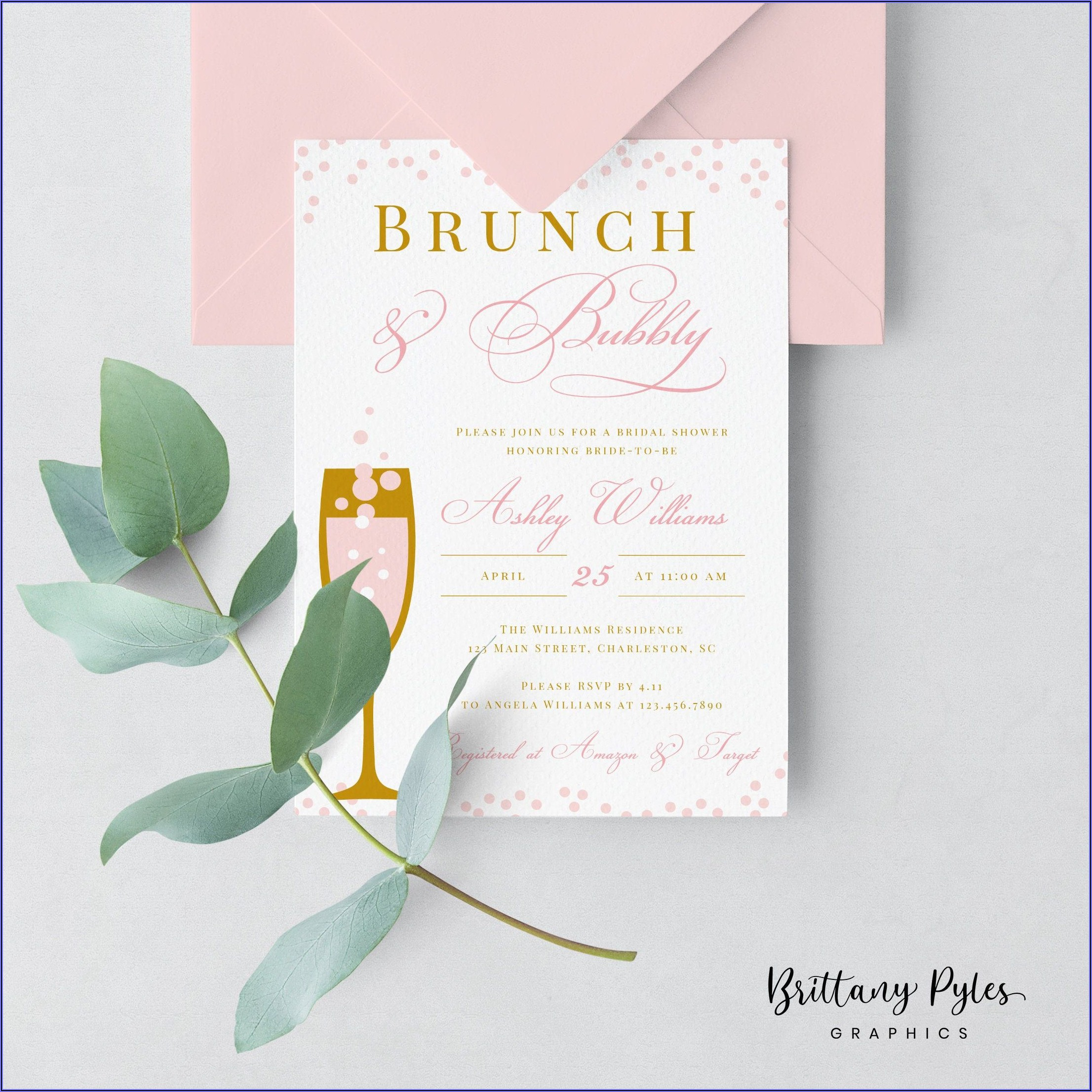 Brunch And Bubbly Bridal Shower Invitations Etsy