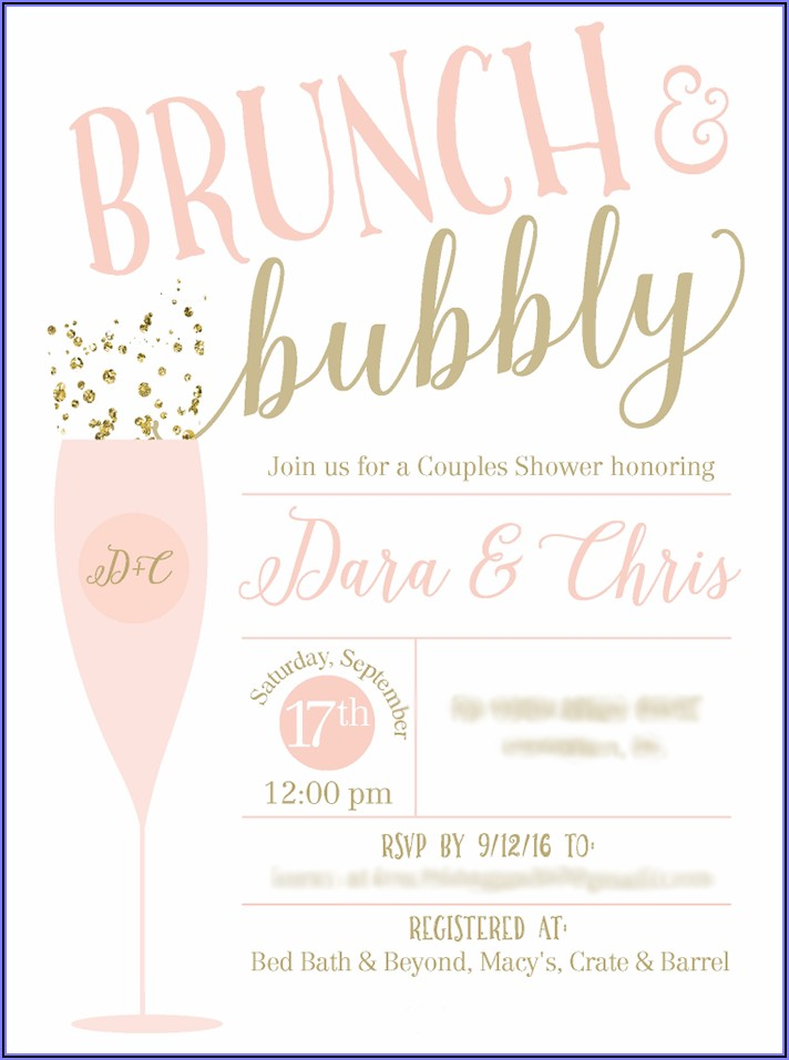 Brunch And Bubbly Invitations