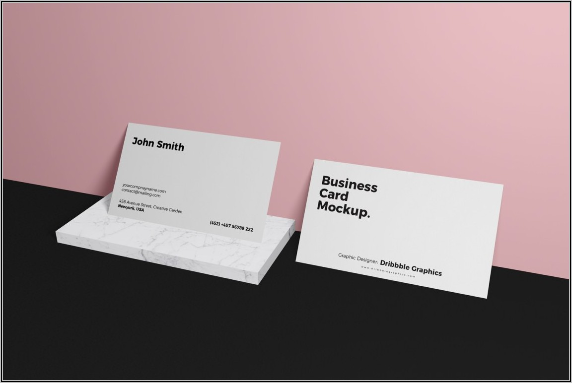 Business Card Design Mockup Psd Free Download