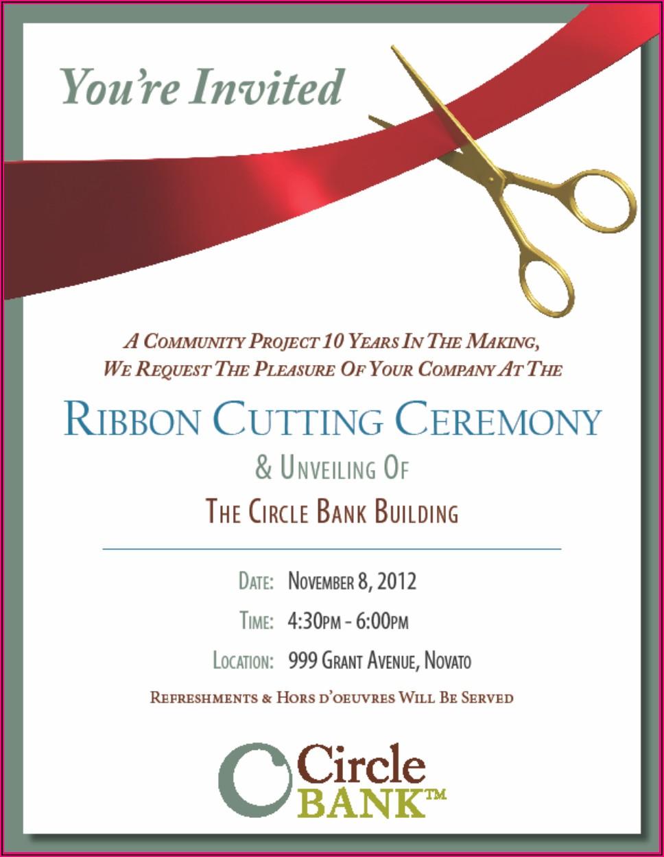Business Opening Ceremony Invitation Wording