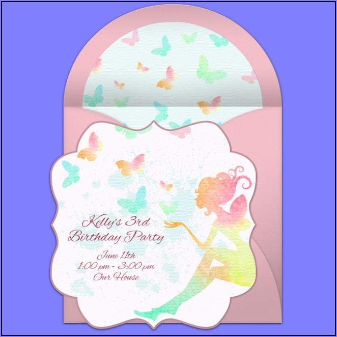 Butterfly 1st Birthday Invitations Free