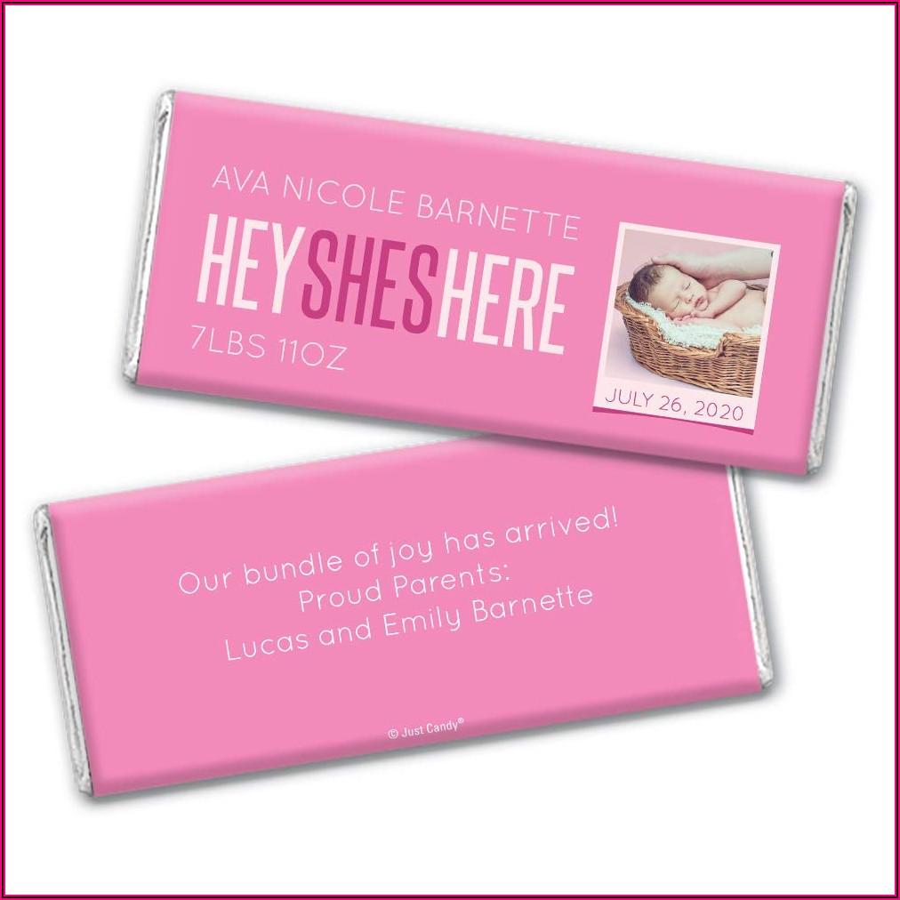 Candy Bar Wrapper Birth Announcements