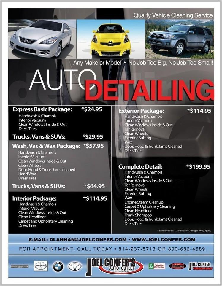 Car Detailing Brochure Templates