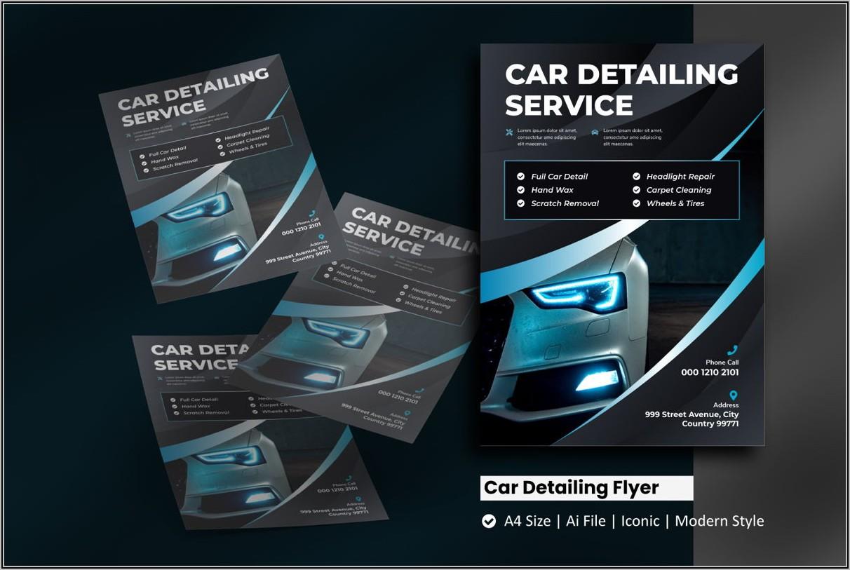 Car Detailing Flyer Template