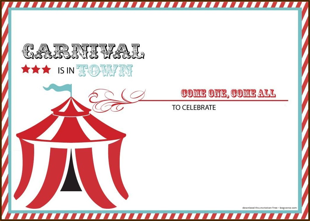 Carnival Party Invitation Templates Free Download