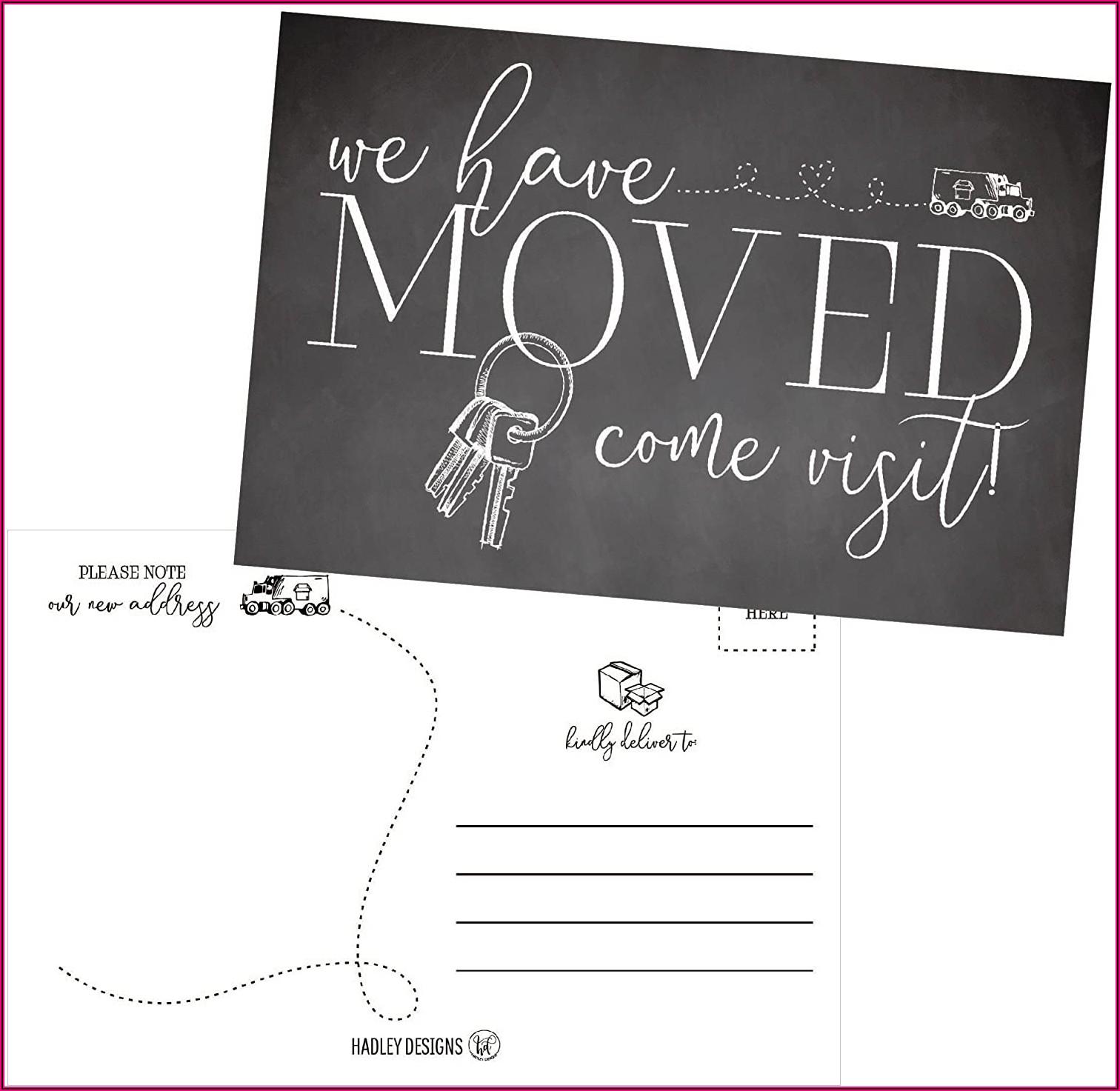 Cheap Moving Announcement Postcards