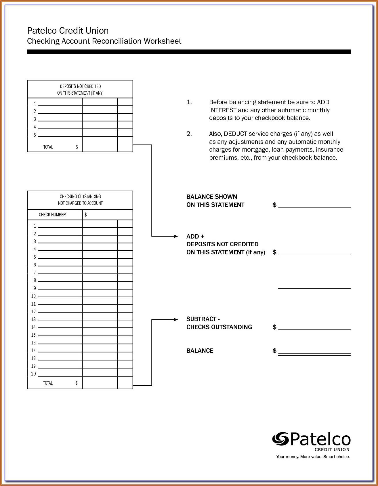 Checkbook Balance Formula Excel