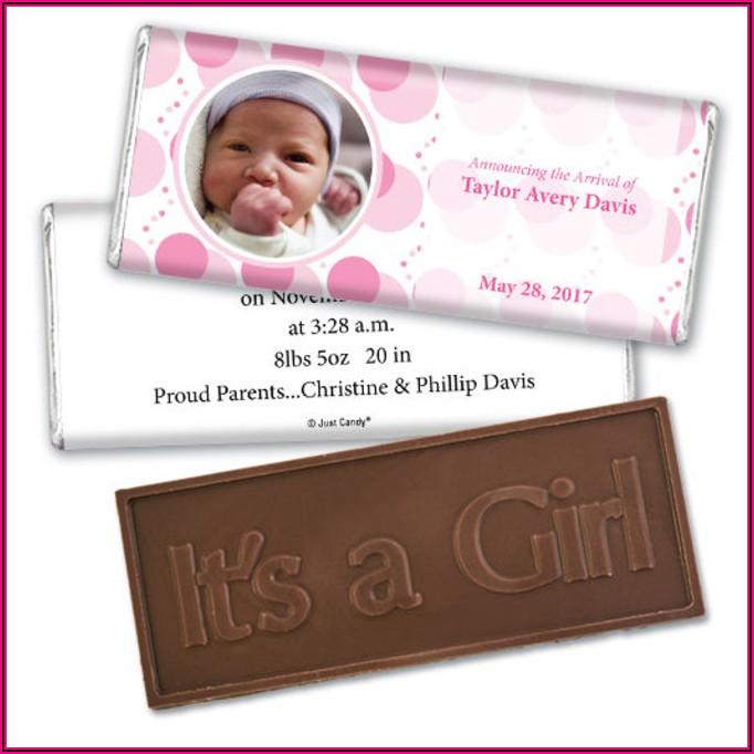 Chocolate Bar Birth Announcements
