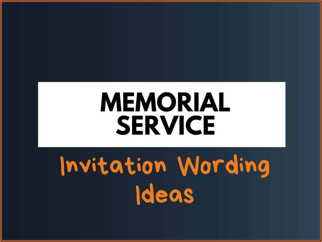 Christian Memorial Service Announcement Template