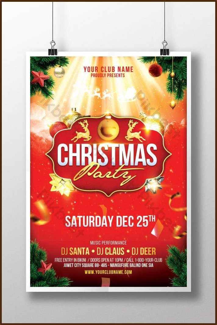 Christmas Party Poster Template Free Download