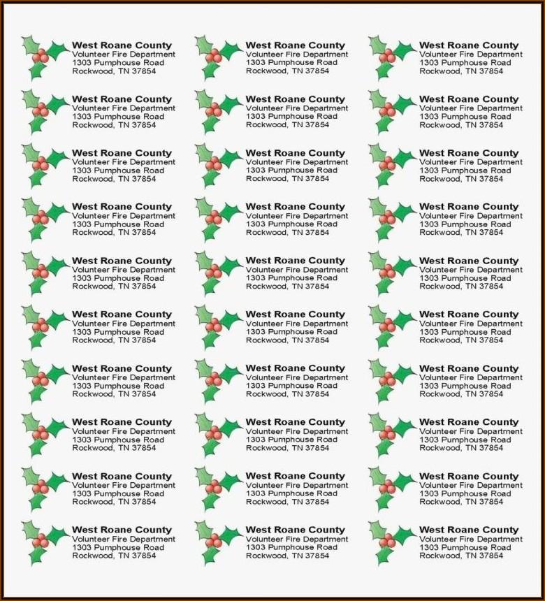 Christmas Return Address Labels Template Avery 5160