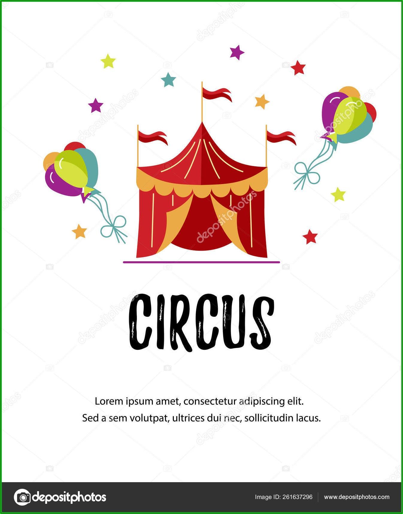 Circus Tent Invitation Template