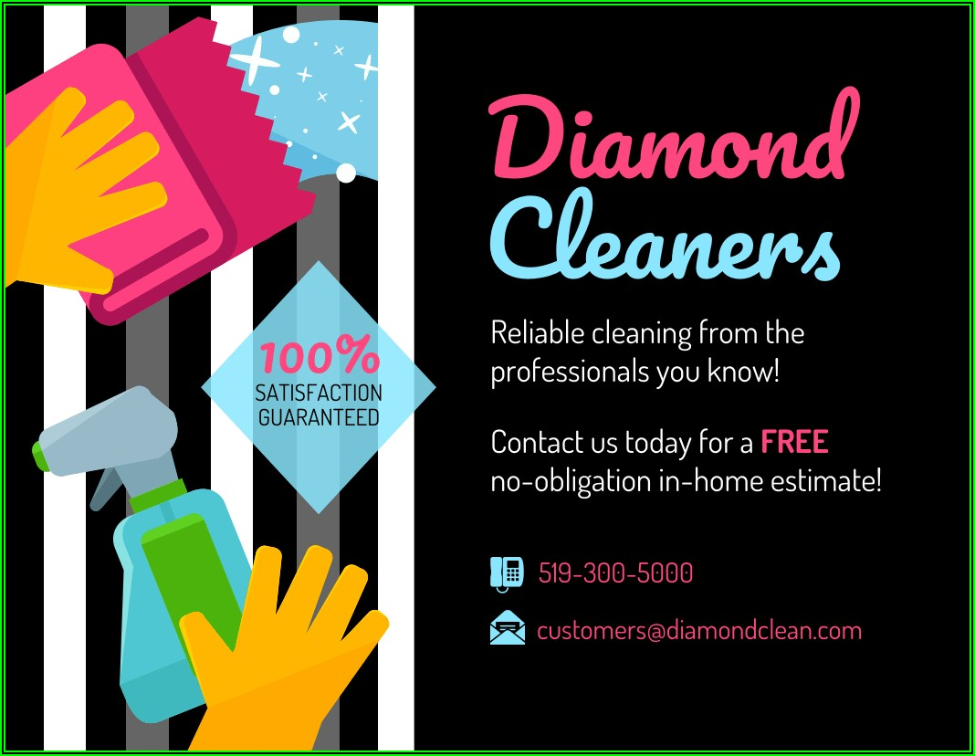 Cleaning Services Leaflet Templates