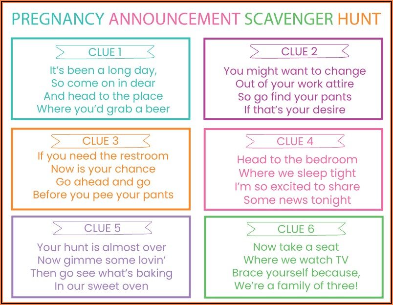 Clever Riddles Hard Pregnancy Announcement Riddles