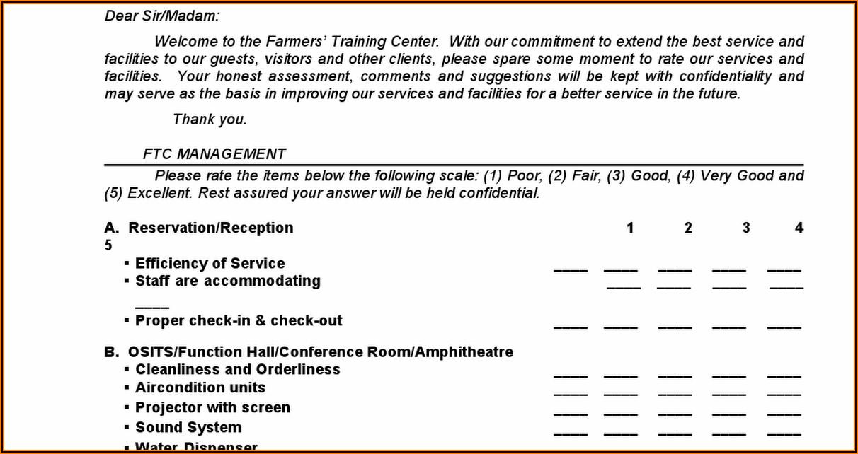 Client Satisfaction Survey Form