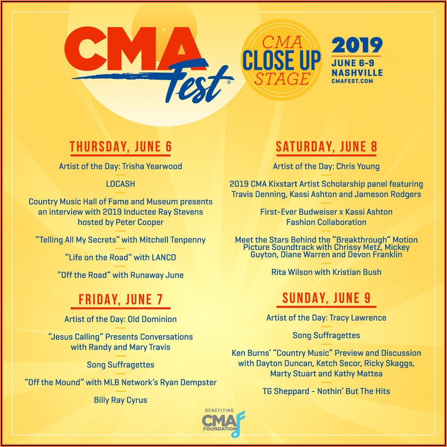 Cma Fest 2019 Lineup Release Date