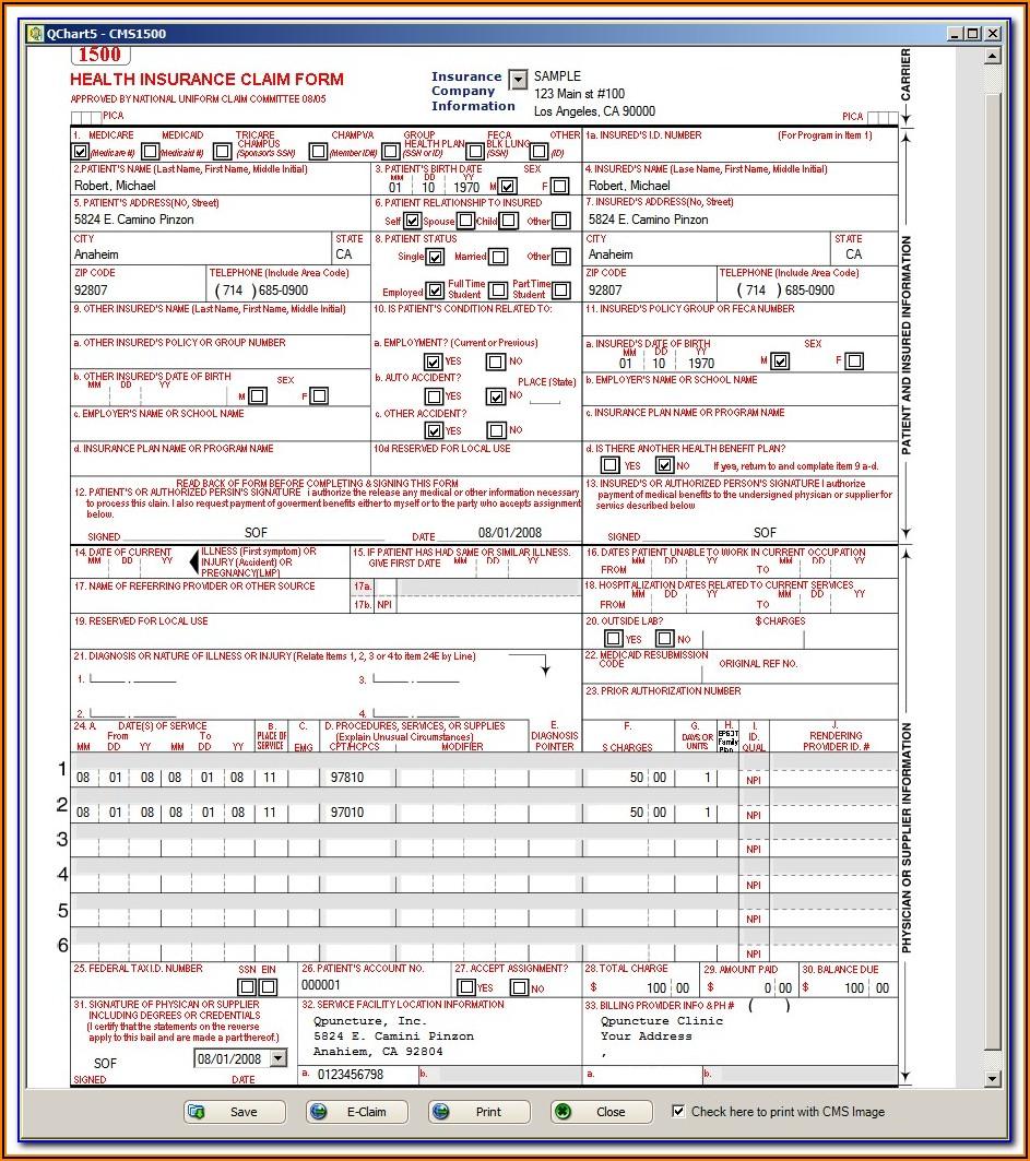 Cms 1500 Blank Form Pdf