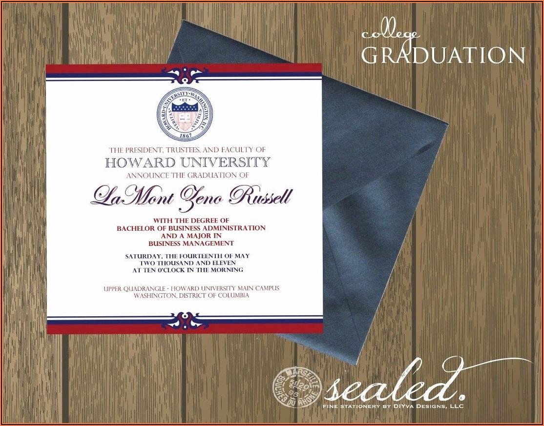 College Graduation Party Invitations Templates
