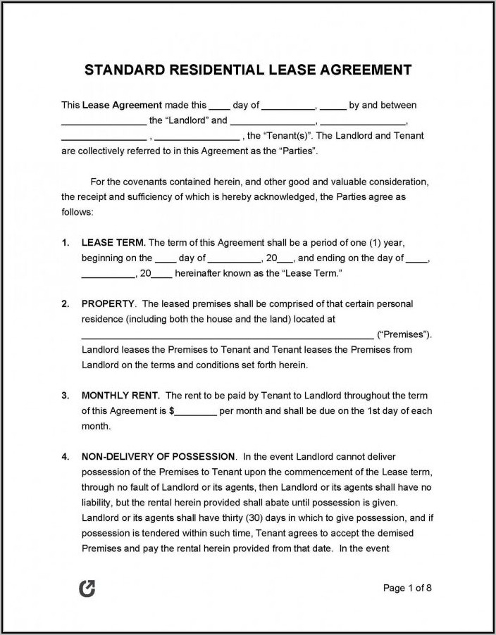 Commercial Lease Agreement Template South Africa