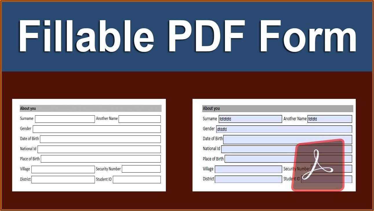 Convert Pdf To Fillable Form Adobe Acrobat Pro