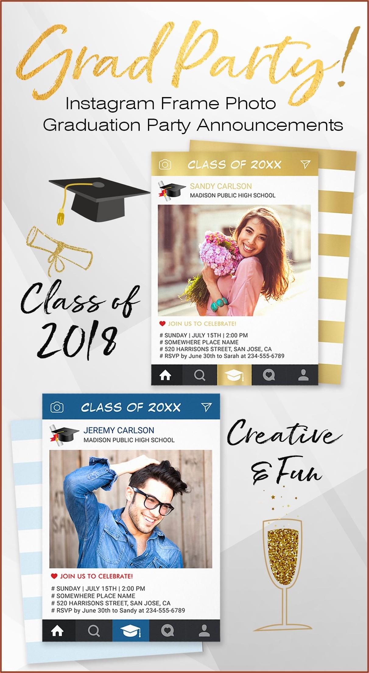 Creative Photo Graduation Announcements