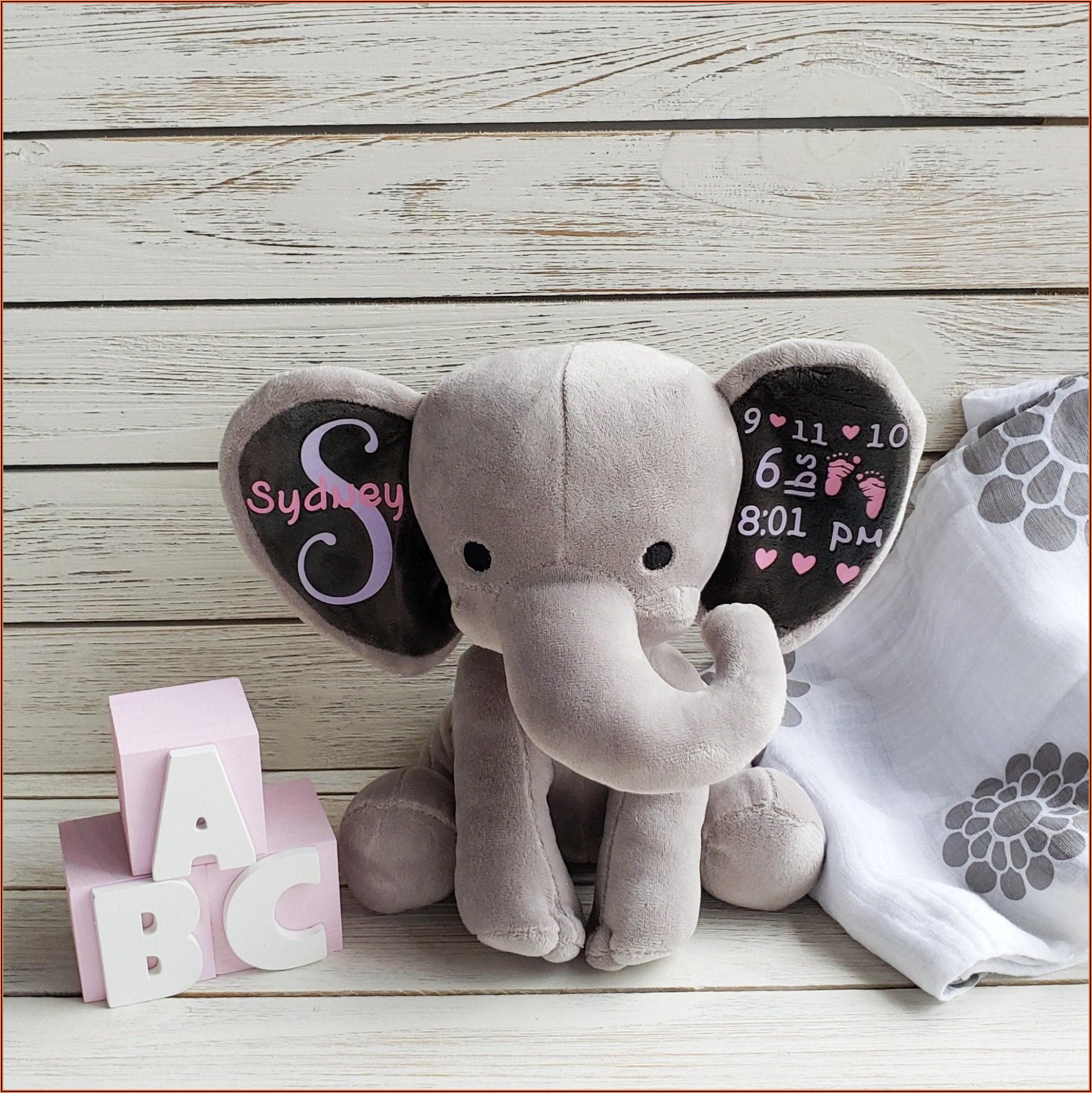 Custom Birth Announcement Stuffed Animal