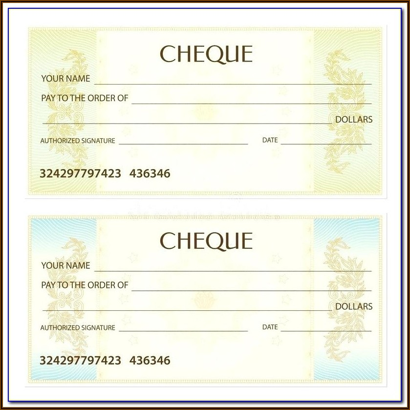 Deluxe Check Printing Template