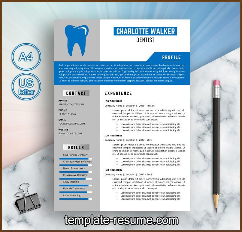 Dental Resume Template