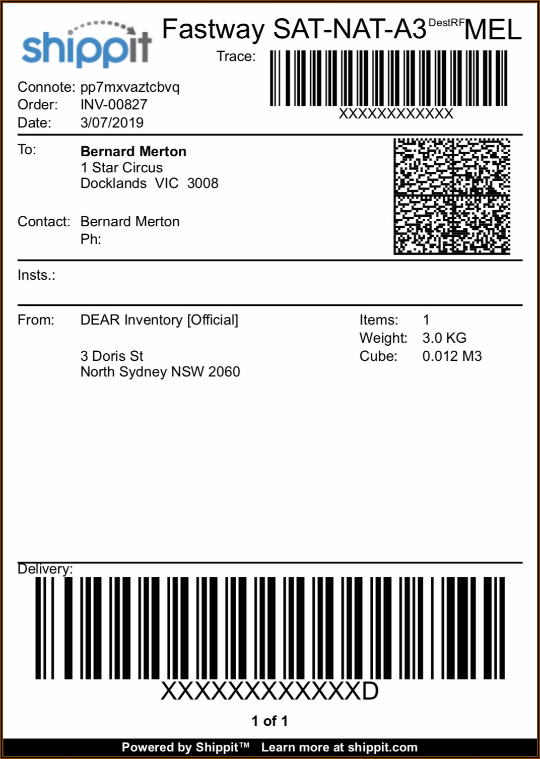 Dhl Shipping Label Example
