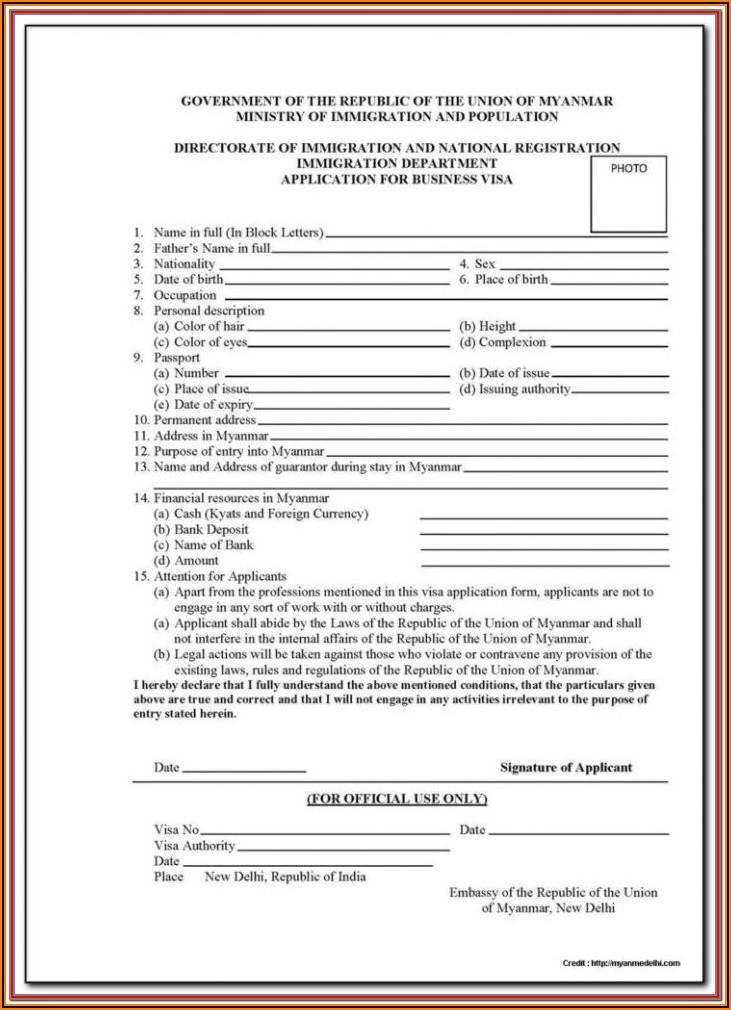 Download China Visa Application Form 2019