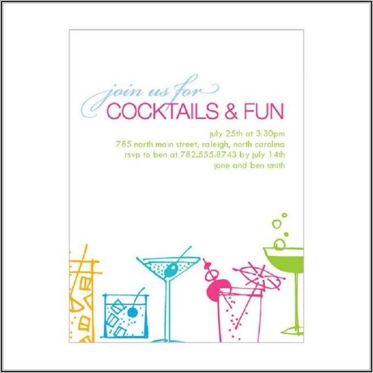 Drinks Party Invitation Templates Free