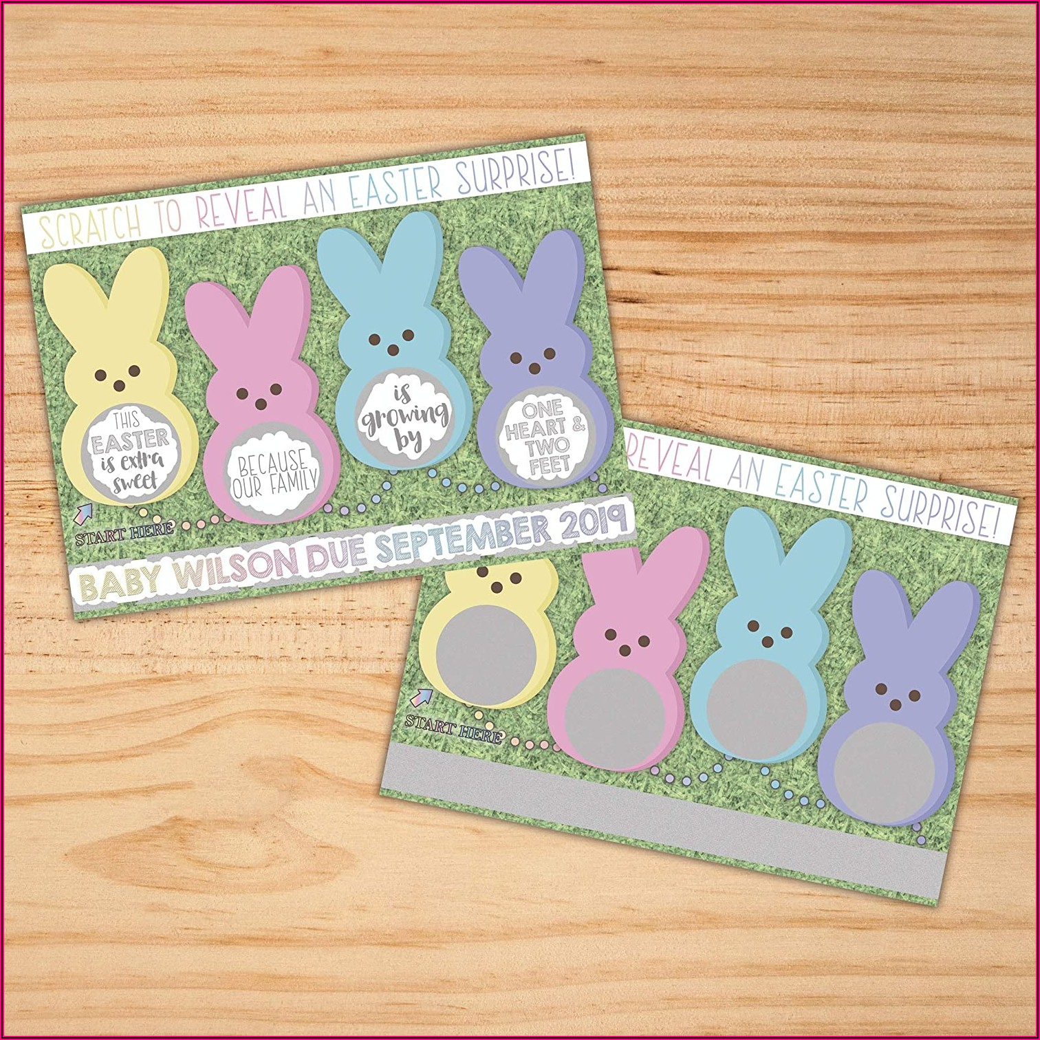Easter Pregnancy Announcement Cards