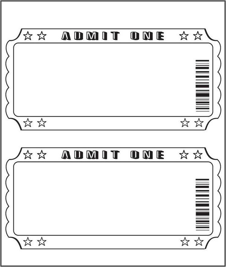 Editable Movie Ticket Invitation Template Free Printable