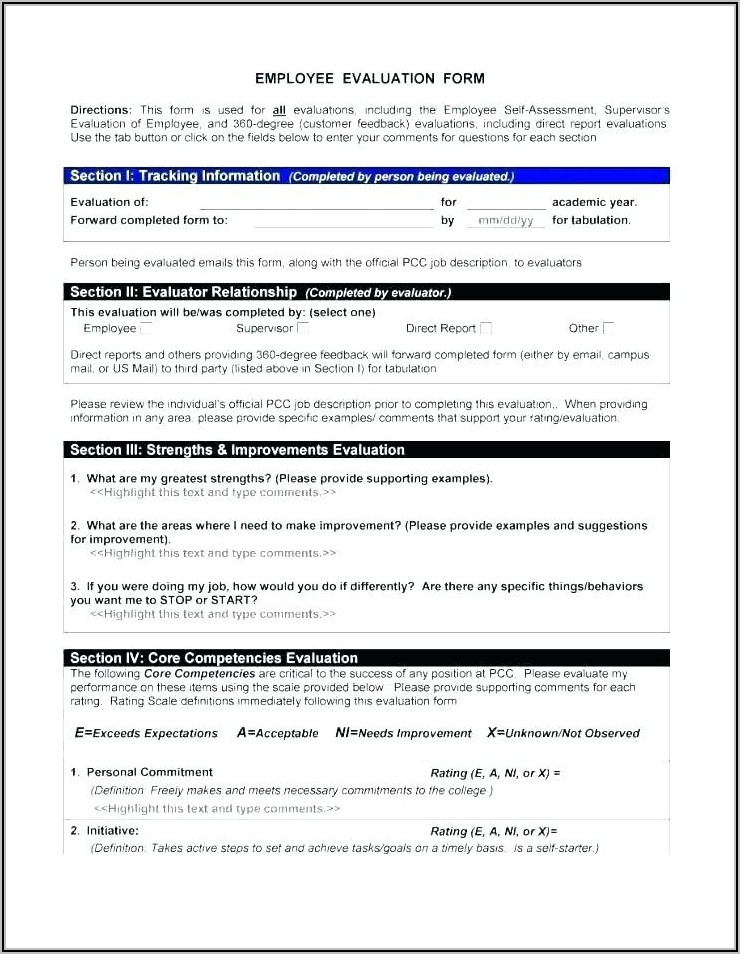 Employee Exit Interview Form Word