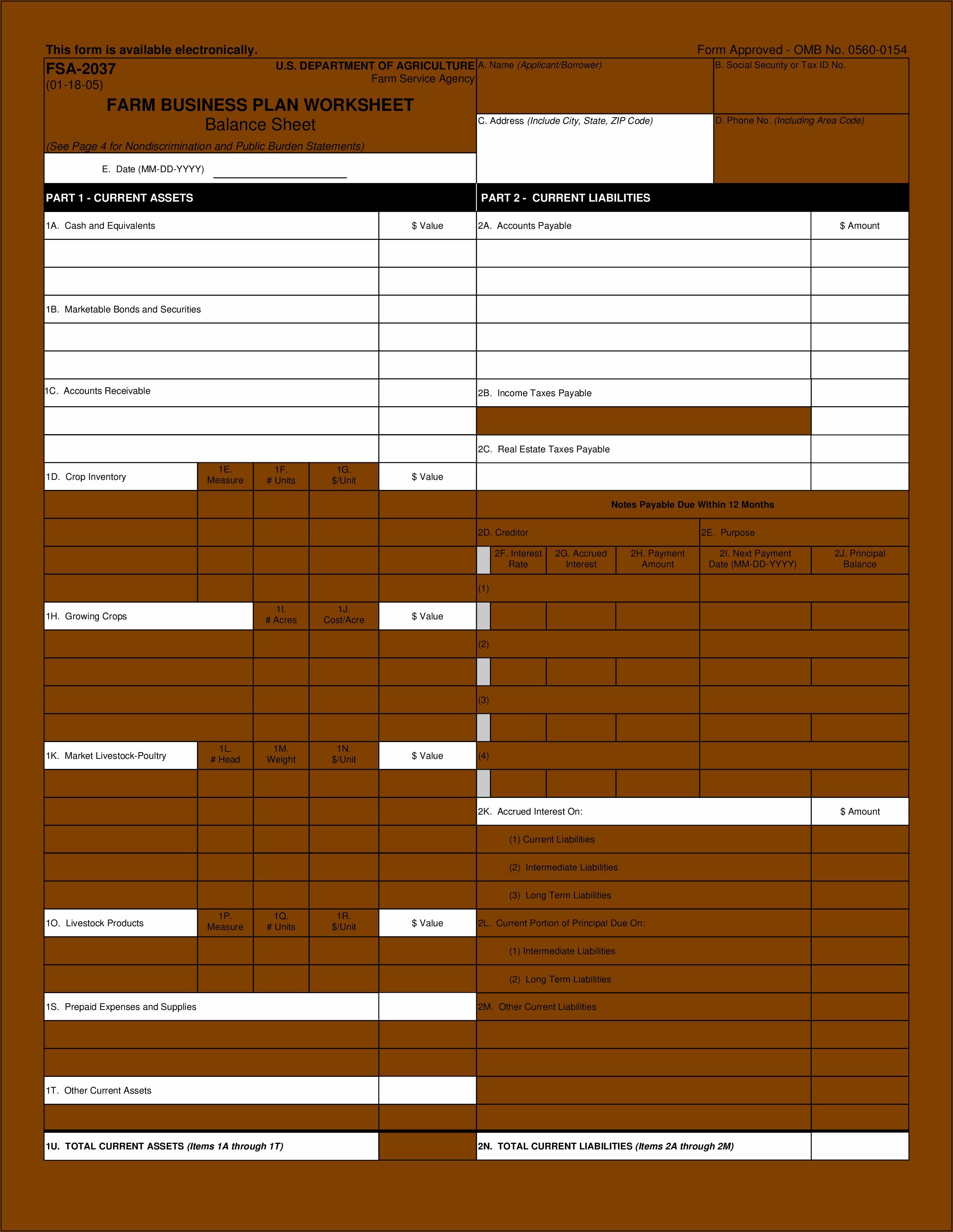 Equestrian Business Plan Template
