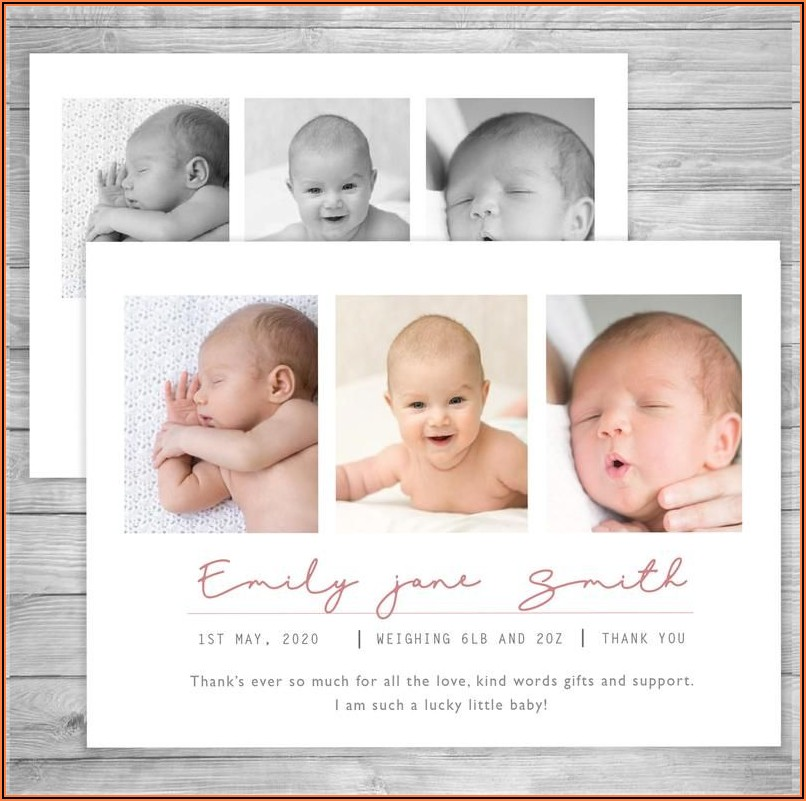 Etsy Birth Announcement Cards