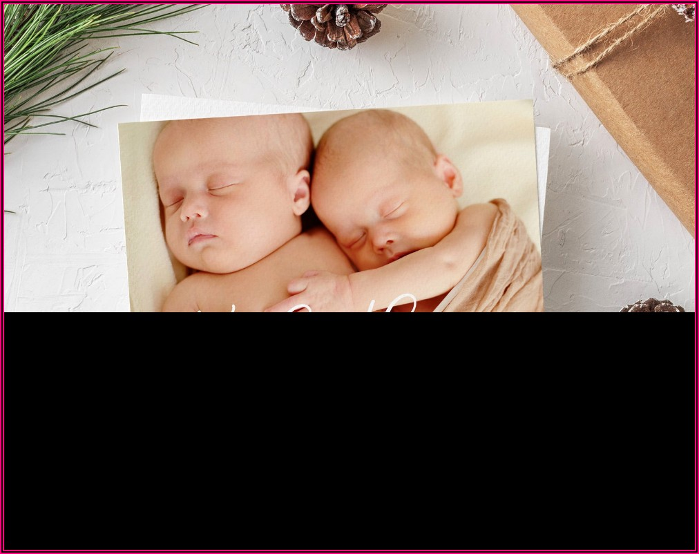 Etsy Twin Birth Announcements