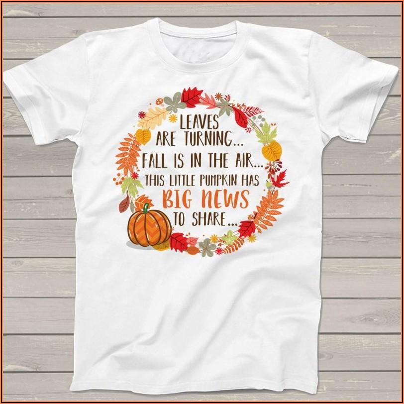 Fall Pregnancy Announcement Shirts