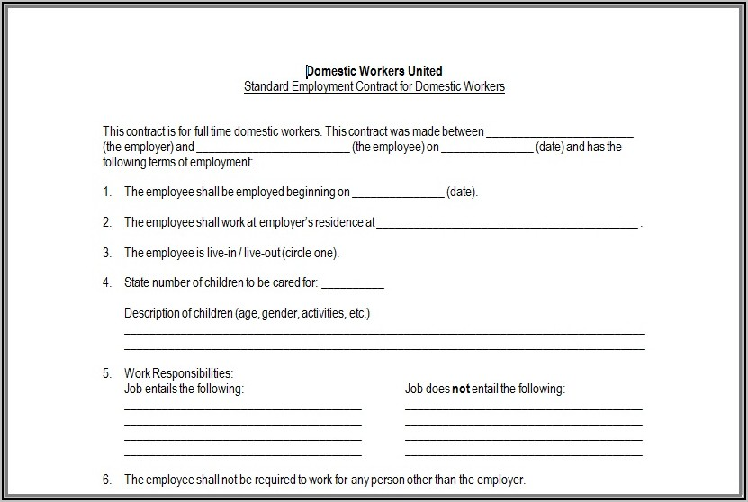 Family Caregiver Agreement Template
