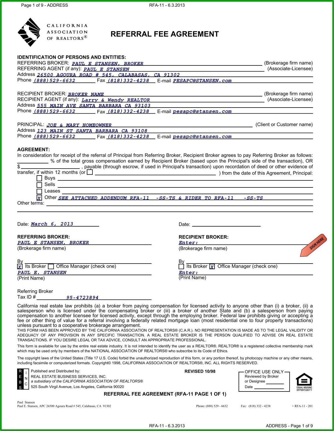 Finder's Fee Agreement Template Uk