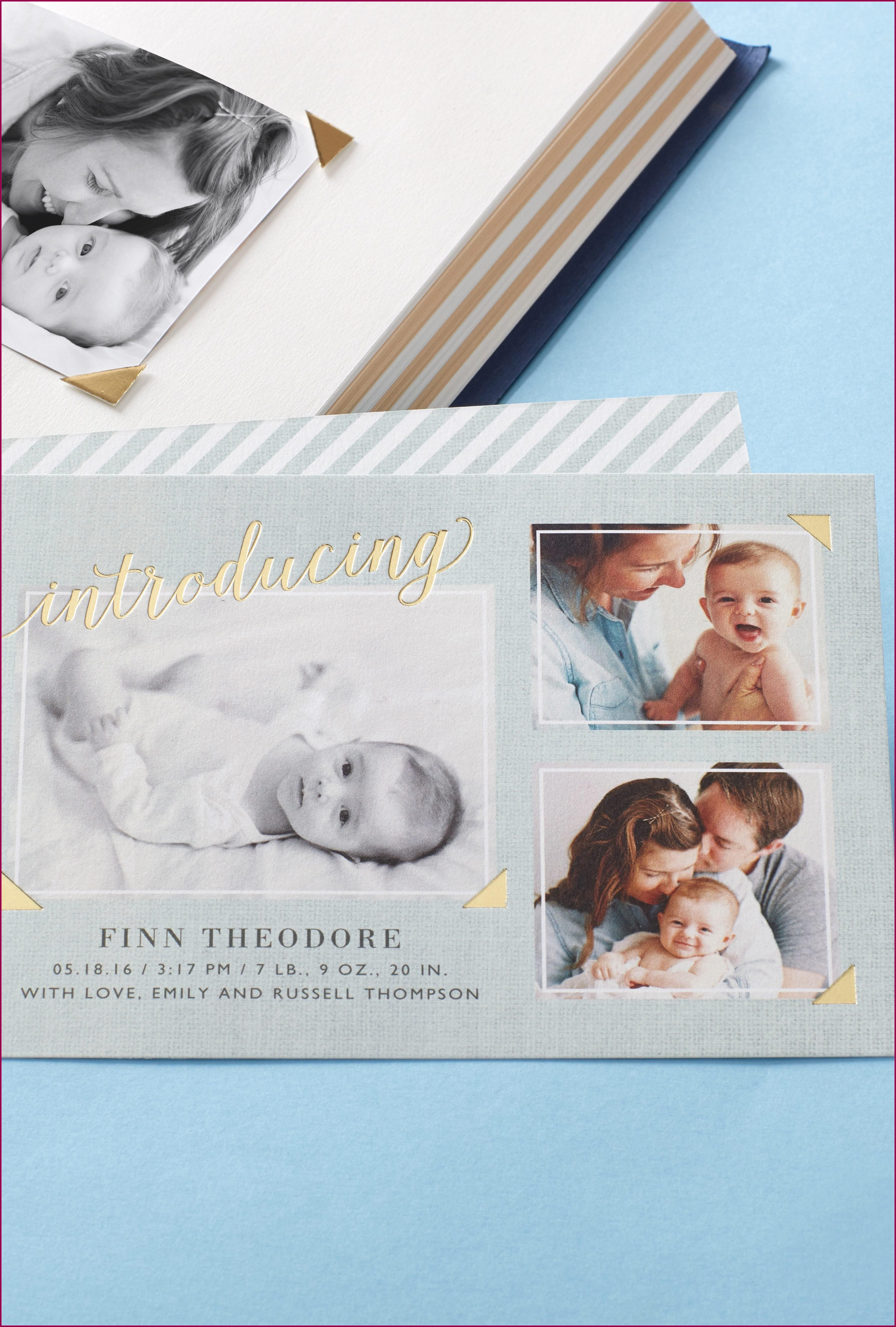 Foil Stamped Birth Announcement