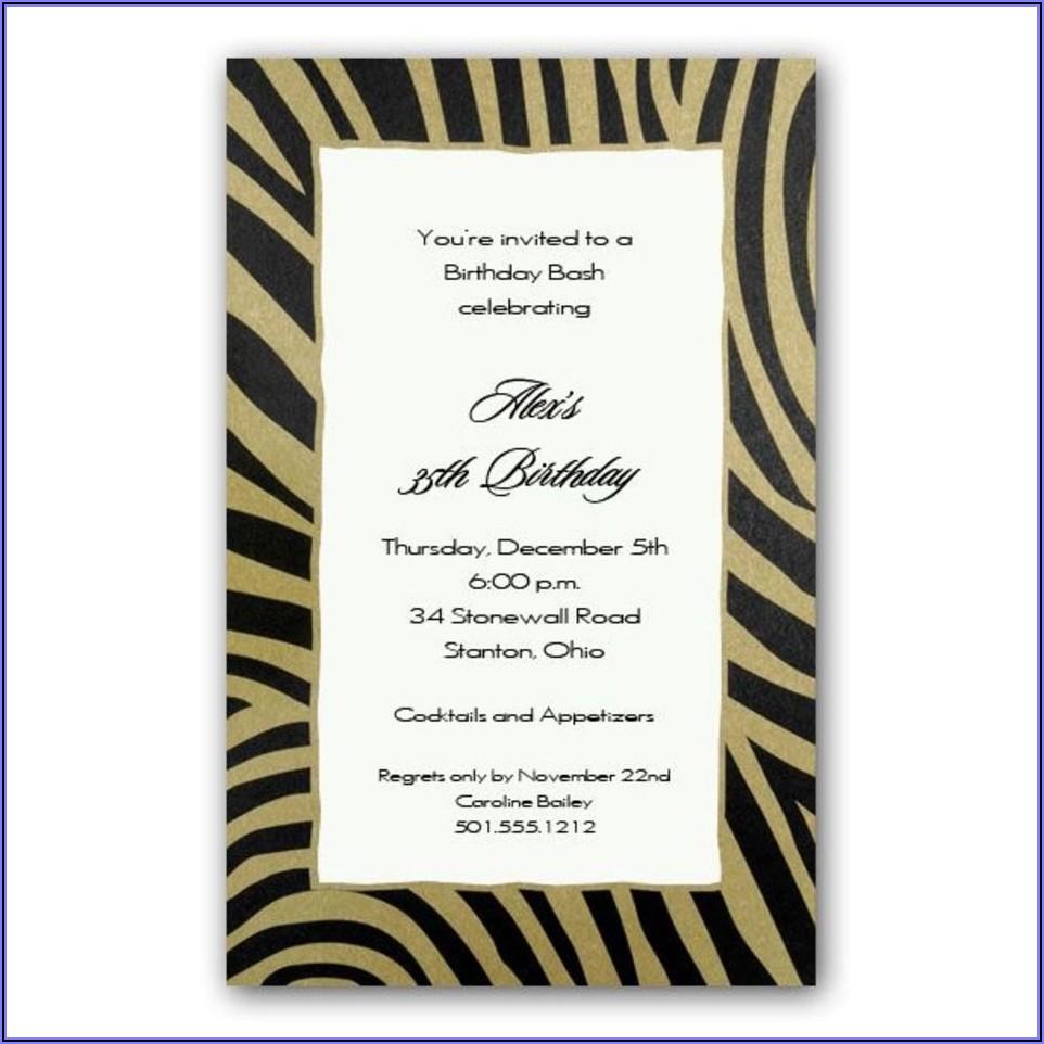 Free 60th Birthday Invitation Wording
