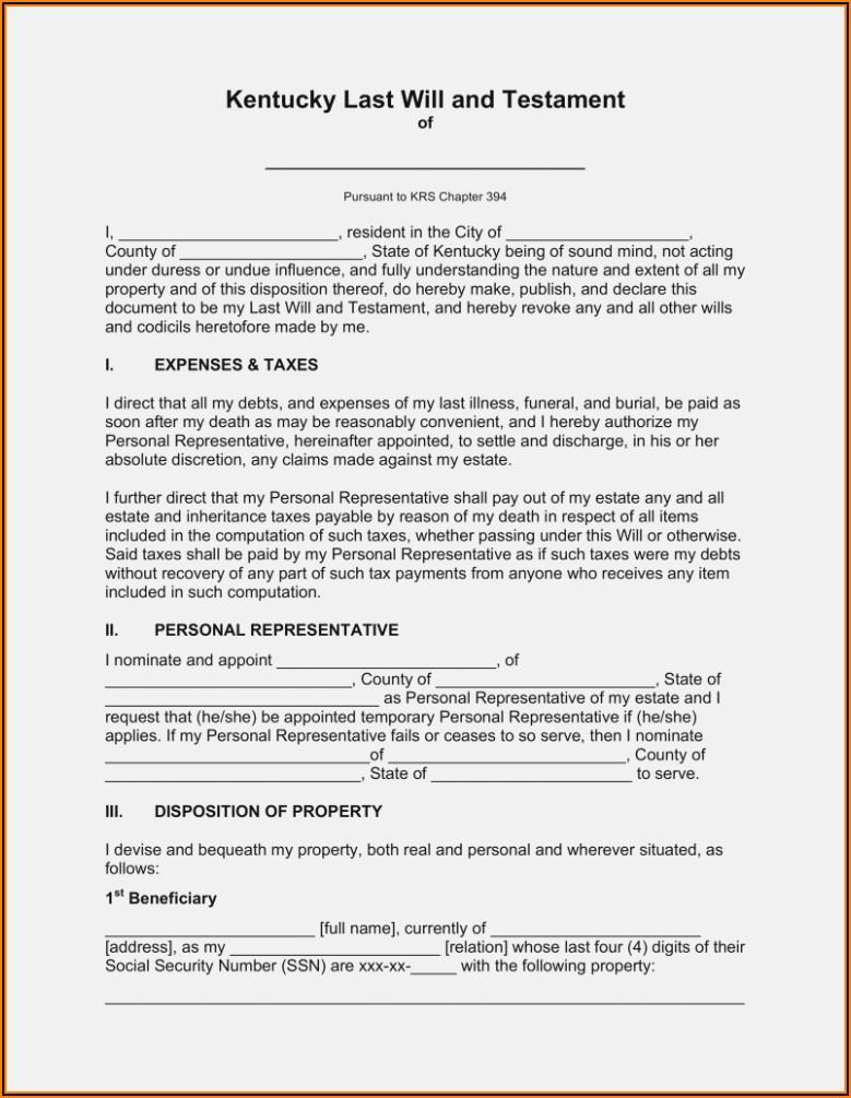 Free Blank Codicil Form Uk