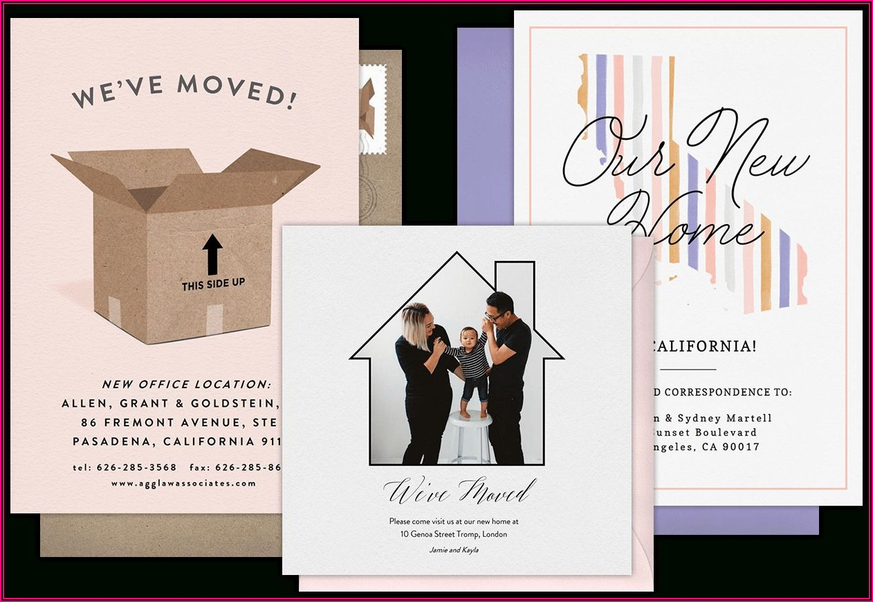 Free Business Moving Announcement Microsoft Word Templates