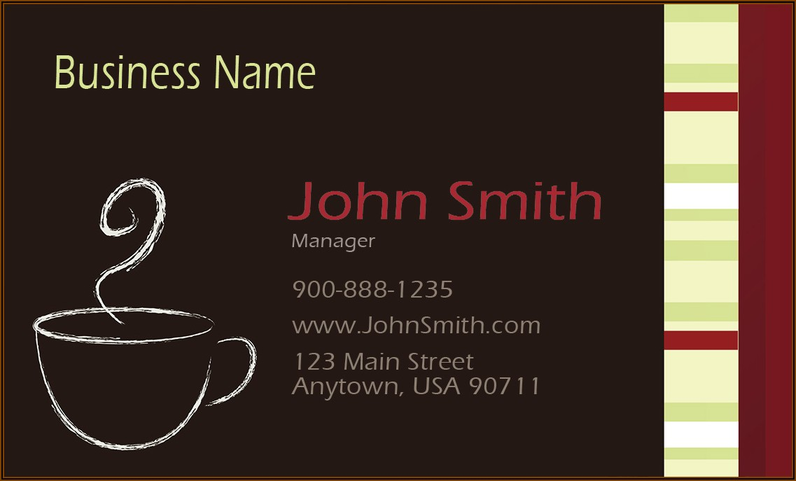Free Catering Business Cards Templates