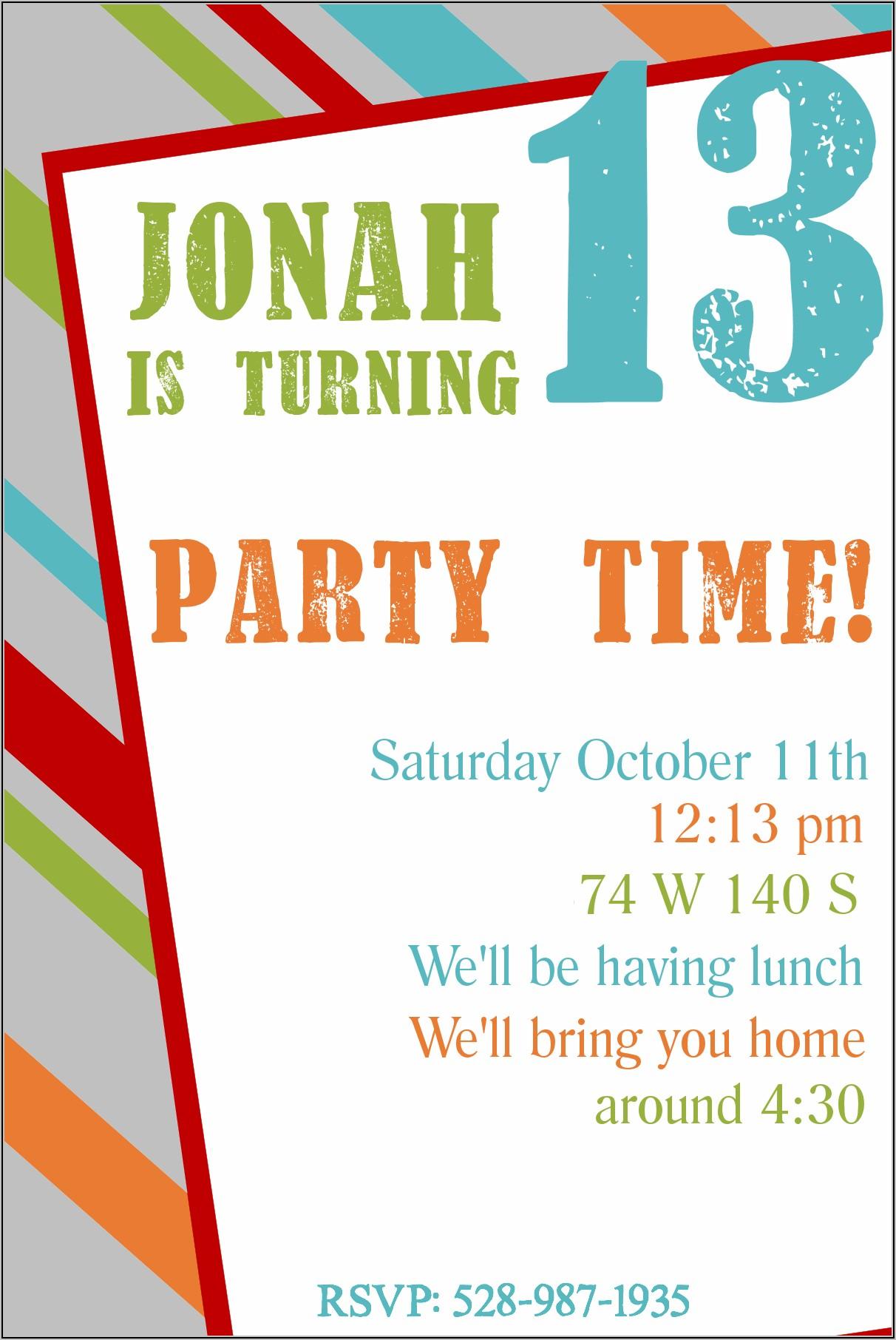 Free Child's Birthday Party Invitation Templates