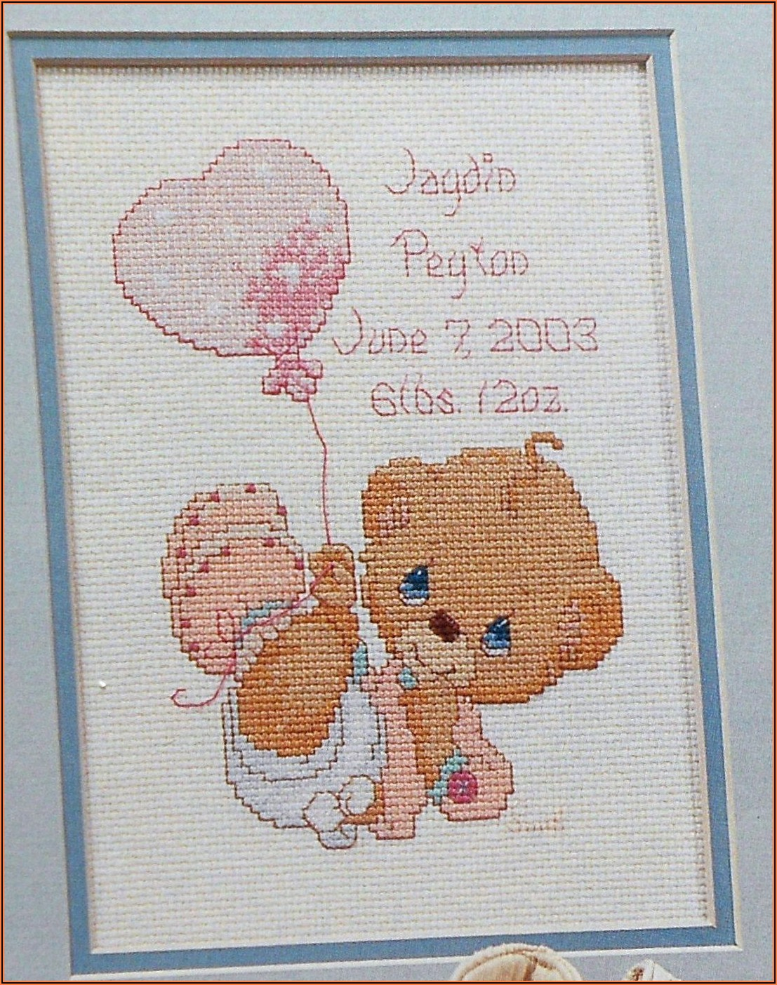 Free Counted Cross Stitch Baby Sampler Patterns