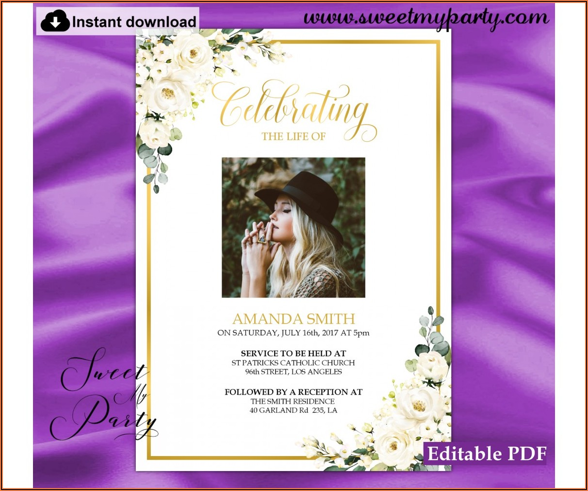 Free Editable Funeral Announcement Template