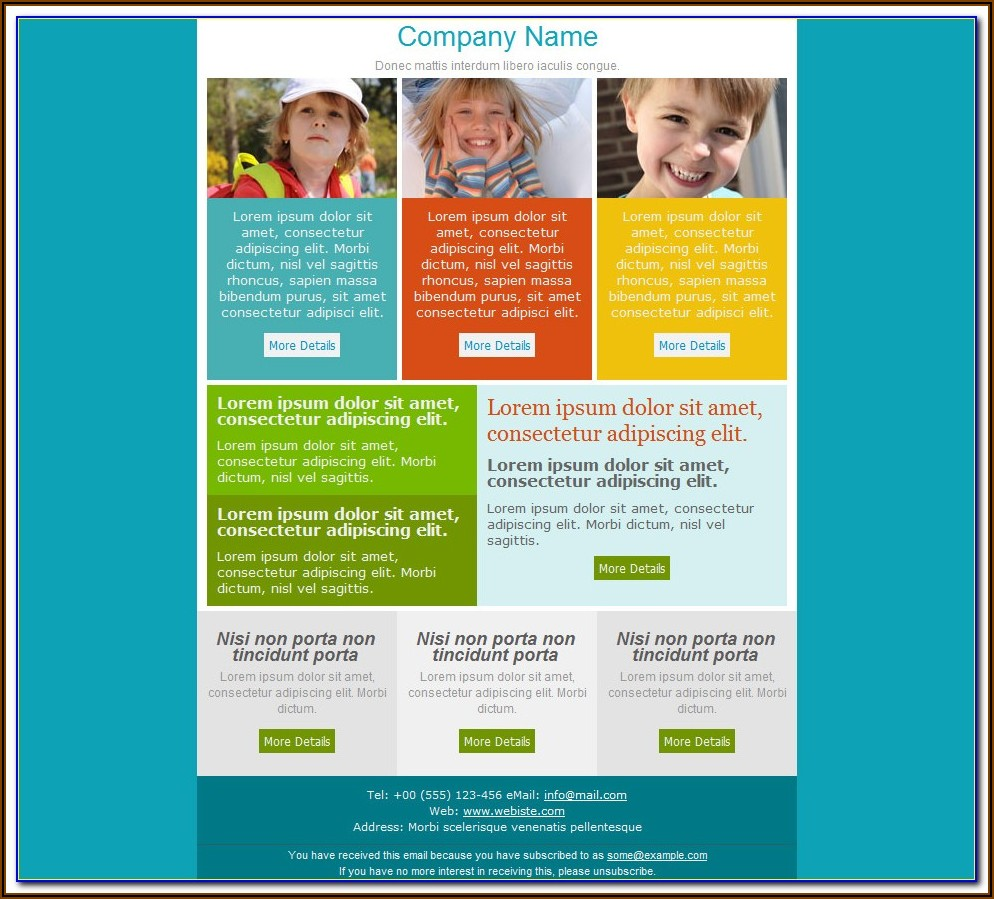 Free Email Newsletter Templates For Microsoft Word