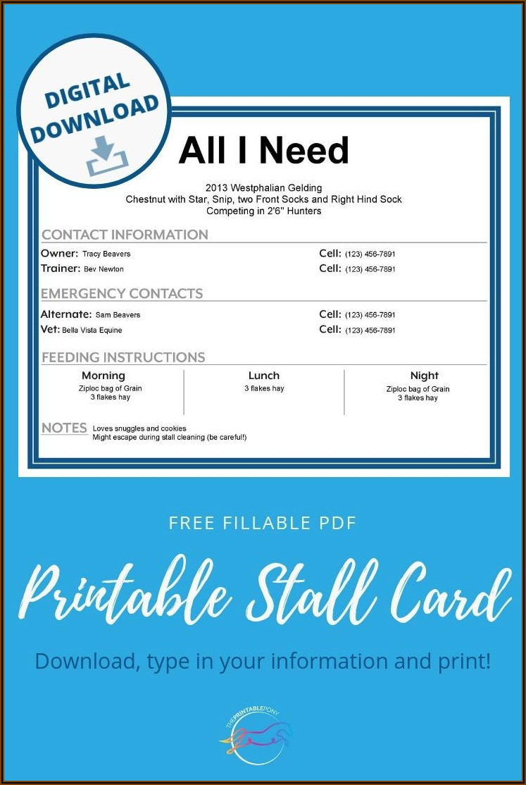 Free Equine Business Plan Template